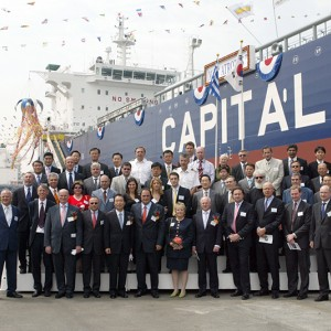 Delivery ceremony of M/T Atrotos at the Hyundai MIPO Dockyard on May 8, 2007, in the presence of Mr. Vagelis Marinakis.