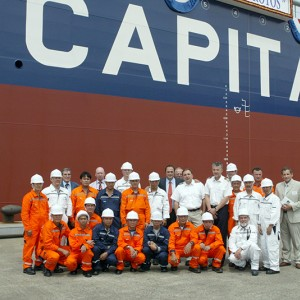 Delivery ceremony of M/T Atrotos at the Hyundai MIPO Dockyard on May 8, 2007, in the presence of Mr. Evangelos Marinakis.