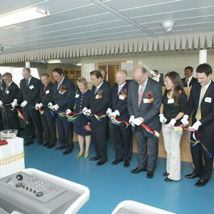 Delivery ceremony of M/T Atrotos at the Hyundai MIPO Dockyard on May 8, 2007, in the presence of Mr. Vangelis Marinakis.