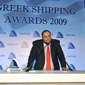 Mr. Vangelis Marinakis, as President & CEO of Capital Maritime & Trading Corp. received the 'Tanker Company of the Year 2009' award on behalf of Capital Ship Management Corp. at the annual Lloyd's List Greek Shipping Awards that took place in Athens on December 4, 2009.