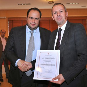 Mr. Vagelis Marinakis, as President & CEO of Capital Maritime & Trading Corp, received Lloyd's Register Group ISO 9001, ISO 14001 and OHSAS 18001 certification on behalf of Capital Ship Management Corp. in March 2009.