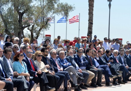 Monument to the Genocide of the Greeks of Pontus Unveiled in Piraeus by Evangelos Marinakis