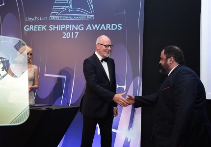 Mr. Evangelos Marinakis and Mr Nigel Lowry at the Lloyd's List Greek Shipping Awards 2017