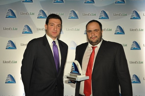 Mr. Evangelos Marinakis, as President & CEO of Capital Maritime & Trading Corp. received the 'Tanker Company of the Year 2009' award on behalf of Capital Ship Management Corp. at the annual Lloyd's List Greek Shipping Awards that took place in Athens on D