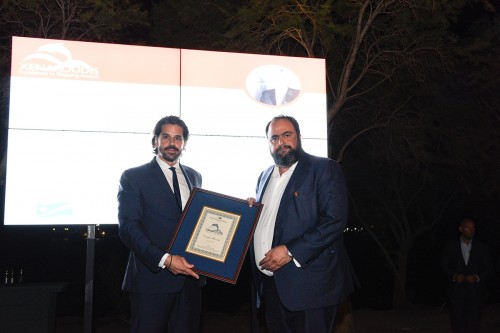 The Chairman of Capital Maritime & Trading Corp., Mr. Evangelos Marinakis and Mr. Theofilos Xenakoudis, Director, Worldwide Business Operations of RMI,