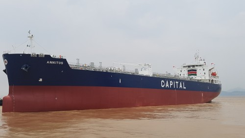 Capital Ship Management Corp. takes delivery of M/T Anikitos