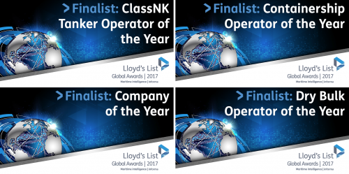 Capital Ship Management Finalist in Four Categories at the Lloyd's List Awards 2017